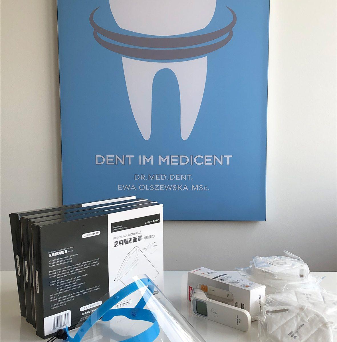 weitere Schutzausrüstung für unsere Praxis Dr. Ewa Olszewska Zahnarzt Zahnarztpraxis Salzburg Medicent