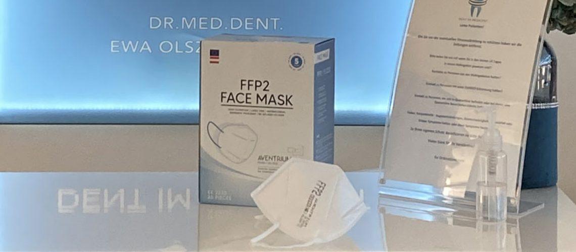 FFP2 Österreich Corona Lockdown Medicent Dr. Olszewska Zahnärztin Maxglan Salzburg